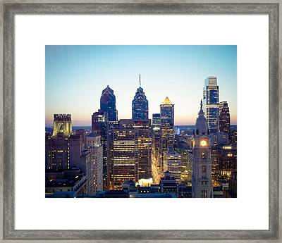 Center City Philadelphia Framed Print by Aaron Couture