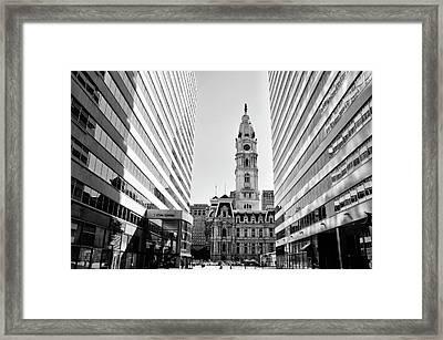 Center City - Philadelphia City Hall Framed Print by Bill Cannon