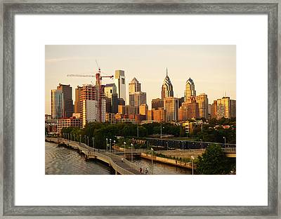 Framed Print featuring the photograph Center City Philadelphia by Ed Sweeney
