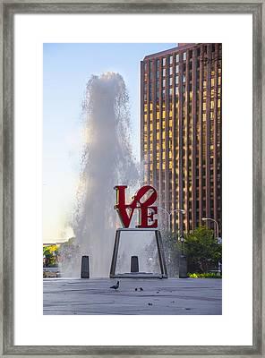 Center City Philadelphia - Love Park Framed Print