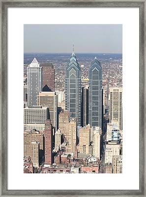 Center City Philadelphia Portrait Framed Print by Duncan Pearson
