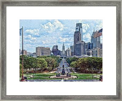 Center City Philly Framed Print by Kevin  Sherf