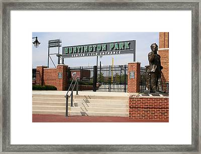 Center Field Entrance At Huntington Park  Framed Print