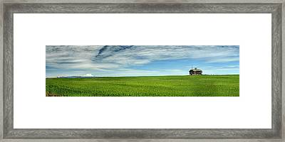 Center Ridge Schoolhouse With Mt. Hood Framed Print