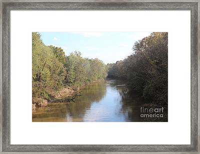Center River Framed Print by Amy Wilkinson