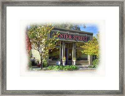 Center Street Cafe Framed Print