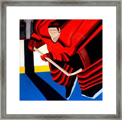 Center Framed Print by Ken Yackel