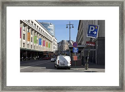Centraal Exit Framed Print by Mark Chevalier