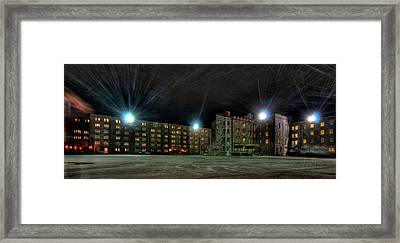 Central Area At Night Framed Print