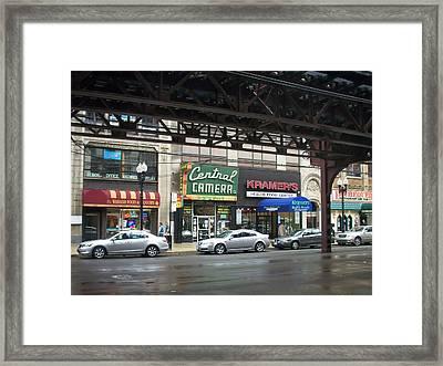 Central Camera On Wabash Ave  Framed Print