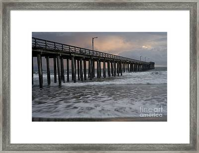 Central Coast Pier Framed Print by Ronald Hoggard