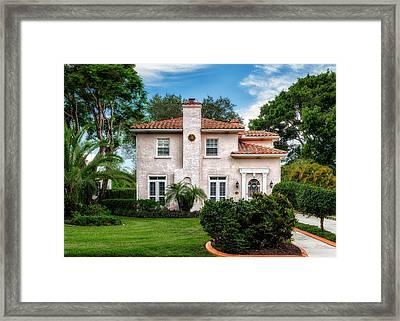 Florida Mediterranean Design Home - 1926 Framed Print by Frank J Benz