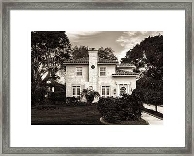 Central Florida Mediterranean Style Home - 1926 Framed Print by Frank J Benz