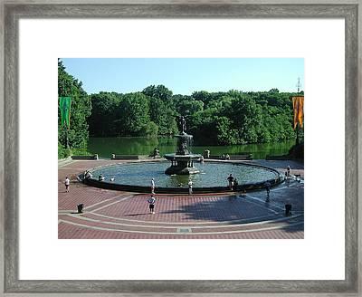 Central Fountain Framed Print by Kelvin Booker