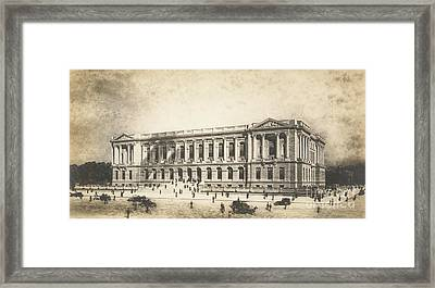 Central Library Of The Free Library Of Philadelphia Framed Print by Jules Guerin