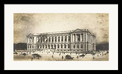 Philadelphia History Drawings Framed Prints