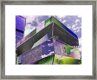 Central Library  Seattle Framed Print by Tim Allen