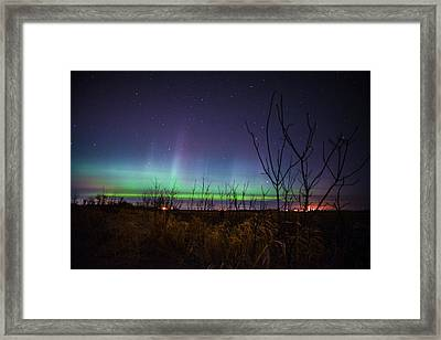 Central Minnesota Aurora Framed Print