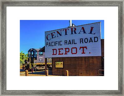 Central Pacific Rail Road Depot Framed Print