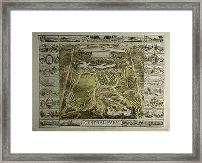 Framed Print featuring the photograph Central Park 1863 by Duncan Pearson