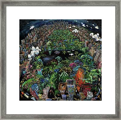 Central Park Framed Print by Antonio Ortiz