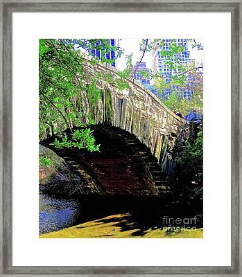 Central Park Bow Bridge 25a Framed Print by Ken Lerner