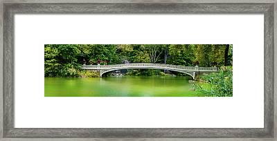 Central Park Bow Bridge Panoramic Framed Print