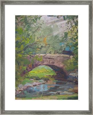Central Park Bridge Framed Print