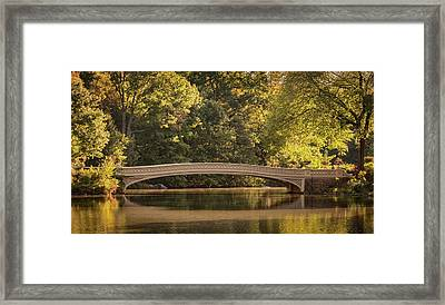 Framed Print featuring the photograph Central Park Bridge by Francisco Gomez