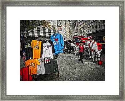 Central Park Carriage Horse Framed Print by Joan Reese