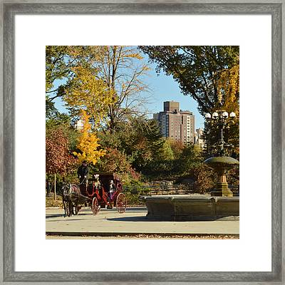 Central Park Carriage Ride Framed Print