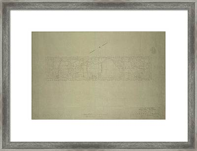 Central Park City Of New York Department Of Parks Map 1934 Framed Print by Duncan Pearson