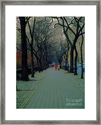 Central Park East Framed Print