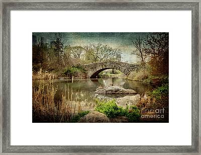 Central Park Gapstow Bridge Framed Print by Joan McCool