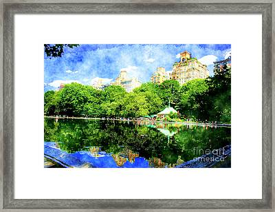 Central Park Framed Print by Julie Lueders
