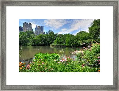 Central Park Framed Print by Kelly Wade