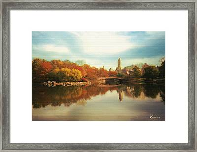 Central Park Lake Framed Print
