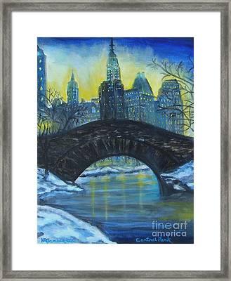 Central Park Framed Print by Nancy Rucker