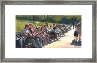 Central Park Pathway Framed Print by Merle Keller