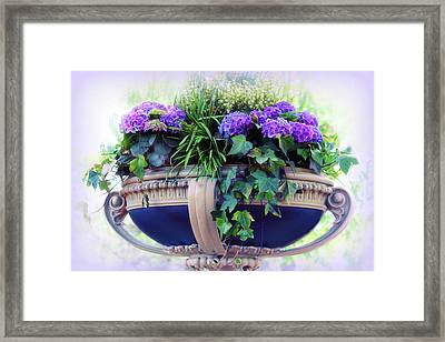 Central Park Planter Framed Print by Jessica Jenney