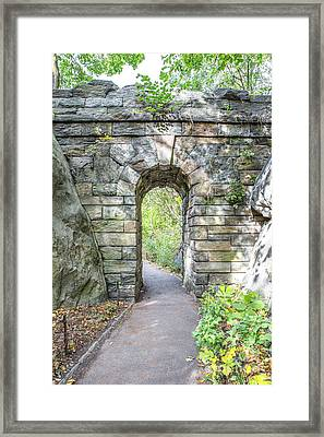 Central Park Ramble Archway Framed Print