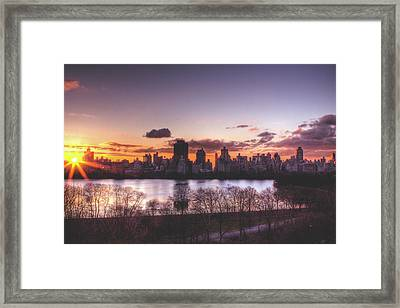 Central Park Rises Framed Print by Ariane Moshayedi