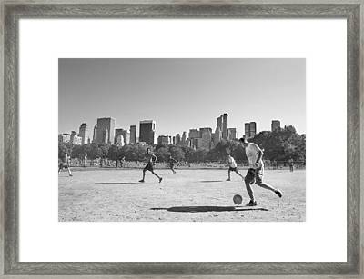 Central Park Framed Print by Robert Lacy