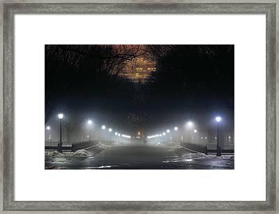 Central Park Shadows Framed Print