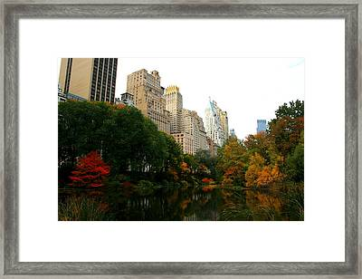 Central Park South Framed Print by Christopher Kirby