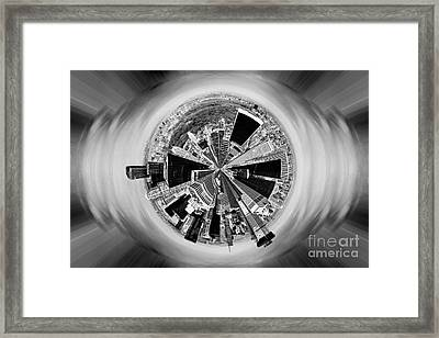 Central Park View Bw Framed Print