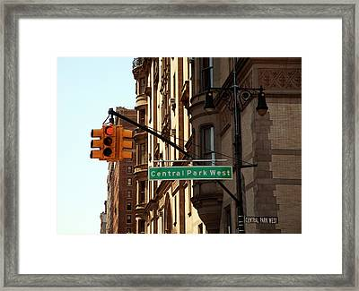Central Park West Framed Print by Madeline Ellis