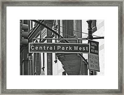 Central Park West Framed Print by Sharla Gentile