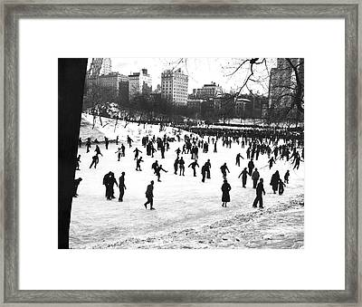 Central Park Winter Carnival Framed Print by Underwood & Underwood