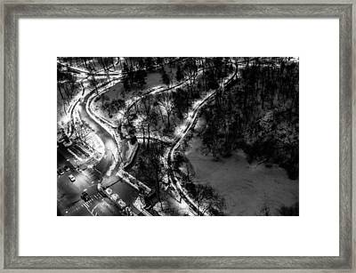 Framed Print featuring the photograph Central Park Trails by M G Whittingham